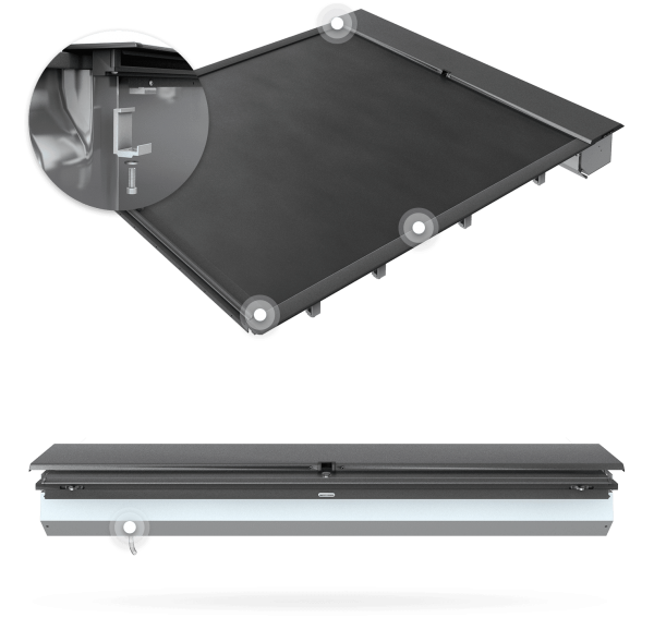 22 Roll-N-Lock MSeries Tonneau Cover Clampon Installation image