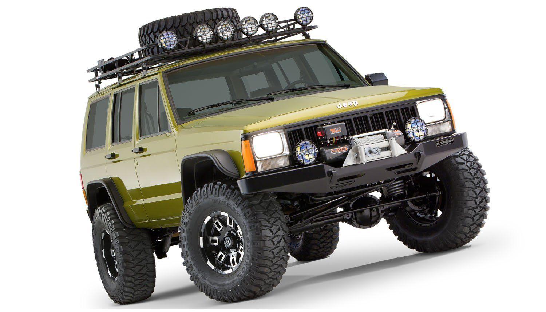 jeep cherokee xj bushwacker flat style fender flares set. Black Bedroom Furniture Sets. Home Design Ideas
