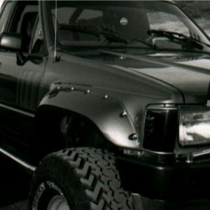 Bushwacker 31009-11 Black Cutout Style Smooth Finish Front Fender Flares  for 1984-1988 Toyota Pickup